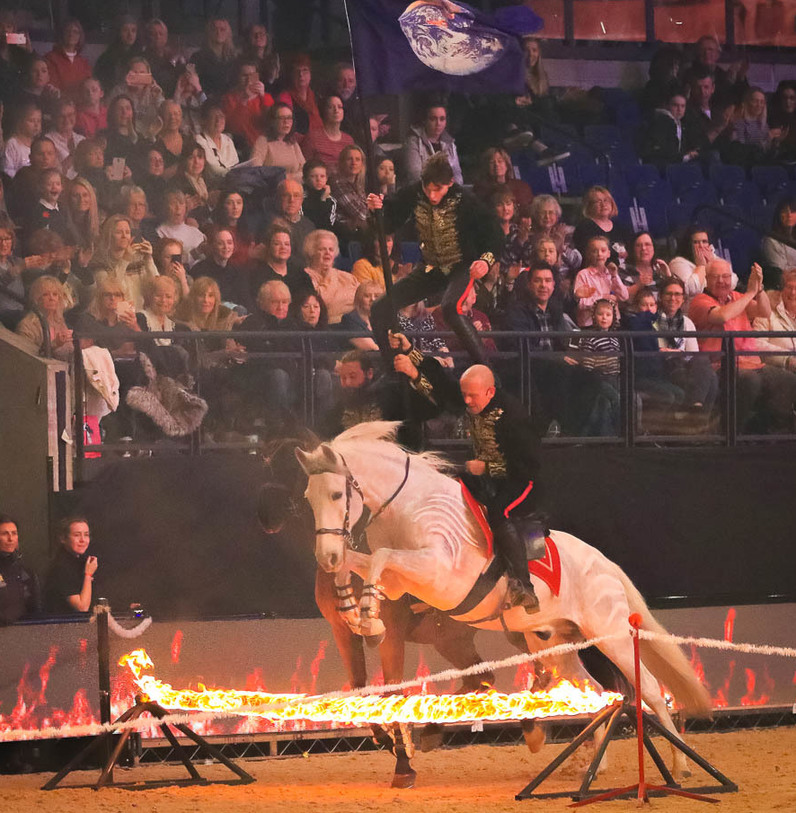 The Stampede Stunt Company Trained Stunt Horses